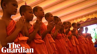 Thai boys rescued from cave mark end of novice monk period