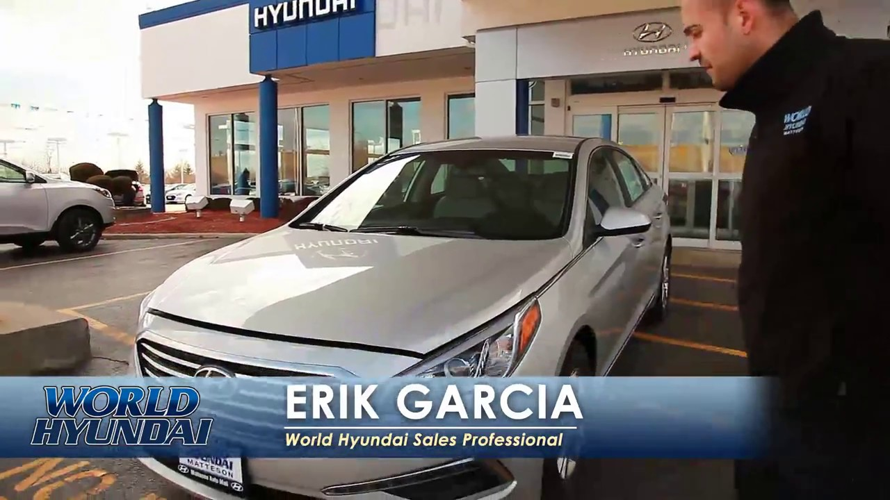 Erik Garcia introduces 2015 Hyundai Sonata - World Hyundai Matteson