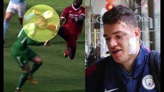 Sadio Mane's Horrific Challenge on Ederson | Man city vs Liverpool