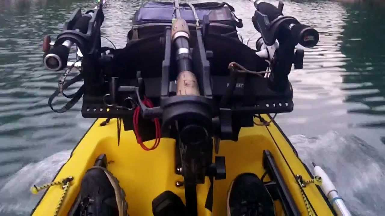Ultimate Motorized Kayak 1st Attempt With 3 5 Hp Nissan