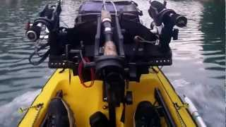 Ultimate Motorized Kayak 1st Attempt With 3.5 HP Nissan Outboard