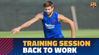 Back to work to prepare the match against Valencia