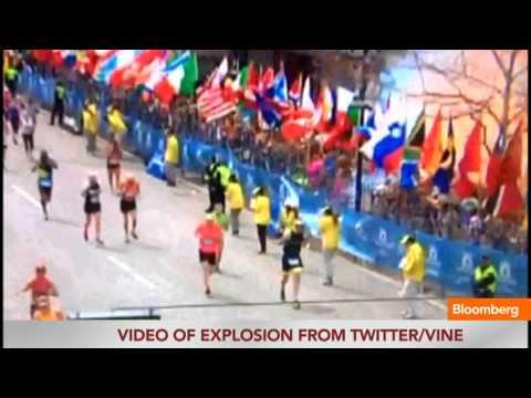 Boston Marathon Explosion Captured on Video