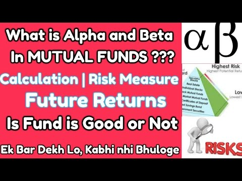 The Alpha and Beta of Mutual Funds | Risk Measure | Future Return | Calculation|