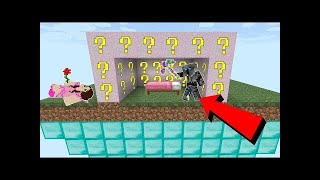 PopularMMOs Pat and Jen Minecraft: GLITCH LUCKY BLOCK BEDWARS! - Modded Mini-Game