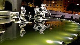 Лиссабон, фонтан Fonte Luminosa на Alameda. Португалия(В переводе с португальского Luminosa означает «светящийся». Фонтан получил это название из-за игры света в..., 2016-09-02T01:07:36.000Z)