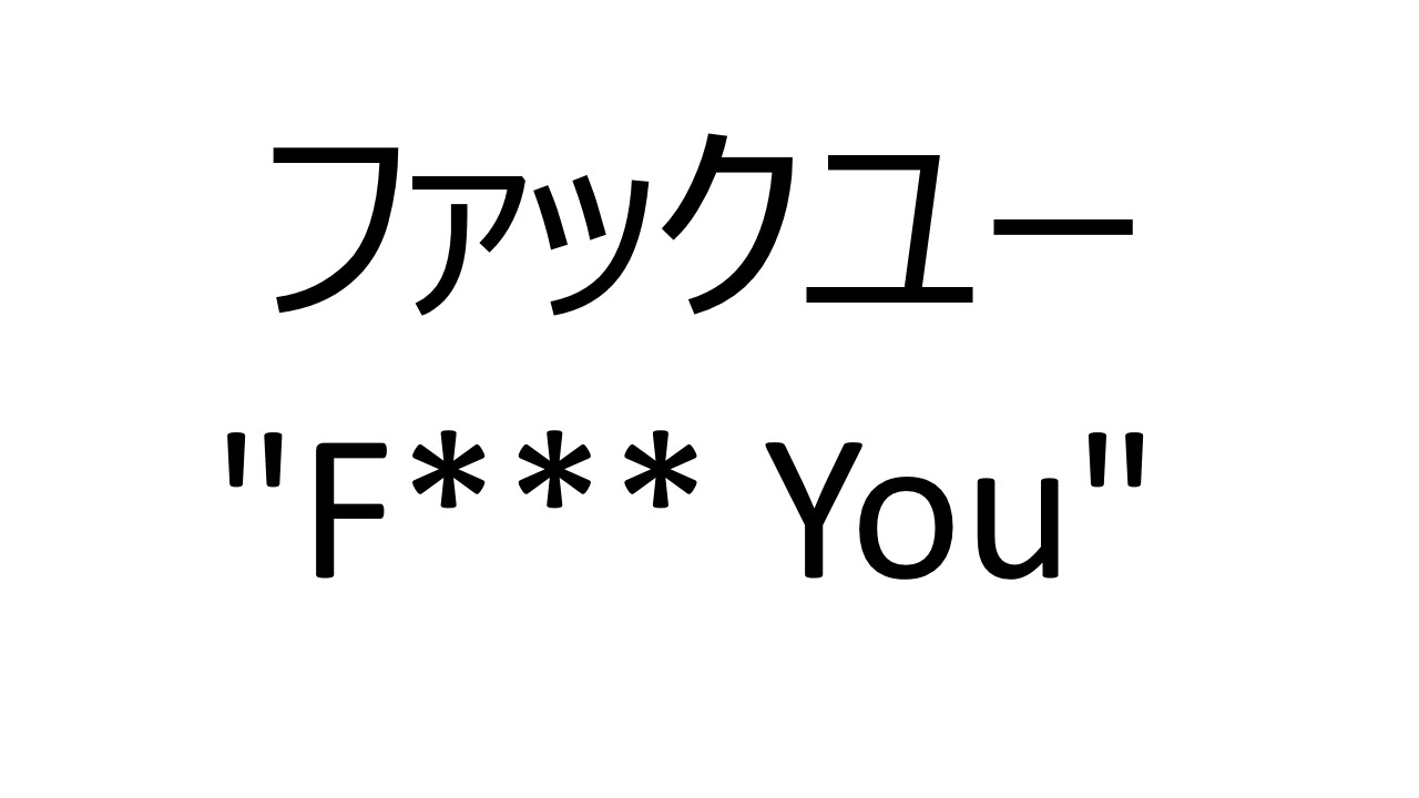 how to say what the fuck in japanese