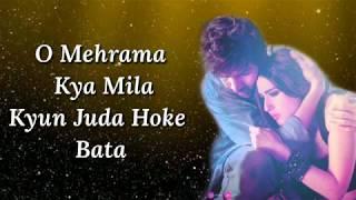 Gambar cover Mehrama Lyrics | Love Aaj Kal | Darshan Raval, Antara Mitra | Pritam | Irshad K | Kartik, Sara