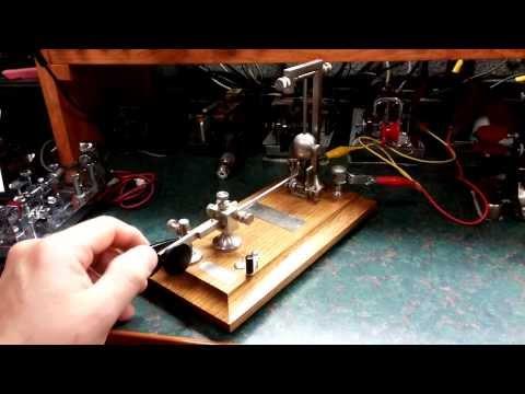 "Mecograph WO Coffe ""Gallows"" Morse Code Bug Key"