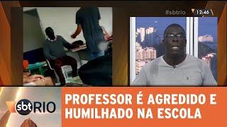Professor agredido em sala de aula fala ao SBT Rio