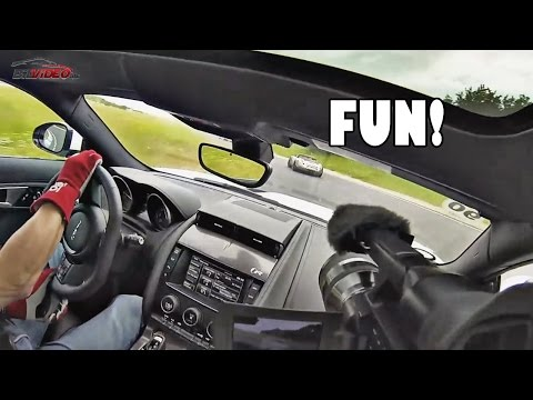 Jaguar F-Type R Coupe Start Up, Exhaust Sound, Loud Revs, Onboard, Walkaround, Sportscar Event 2014