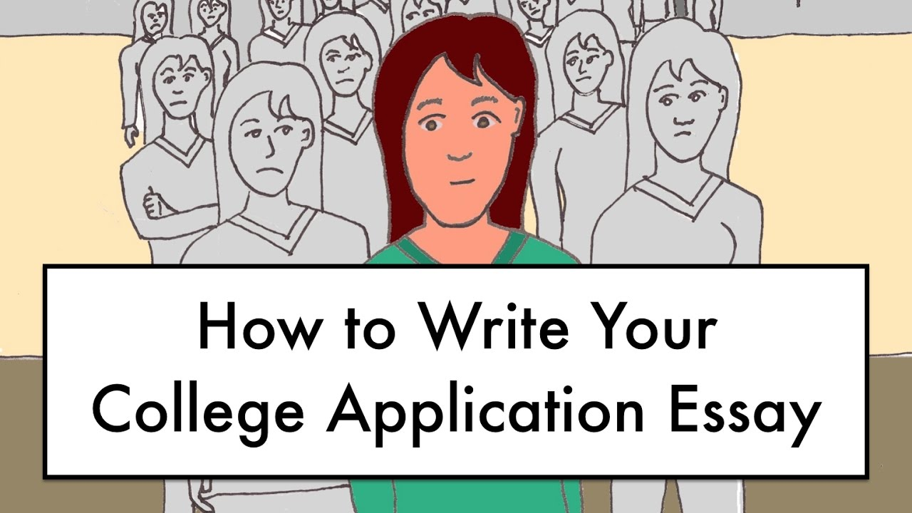 How To Write Your College Application Essay  Youtube