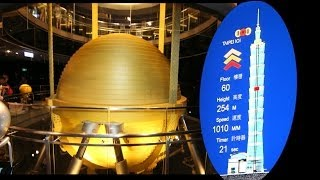 Taipei 101 煙火- worldwide fastest elevator and biggest Tilger-Pendel for damping