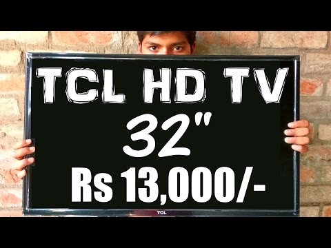 """TCL 32"""" HD Led TV Unboxing & Review (Cheapest TV)"""