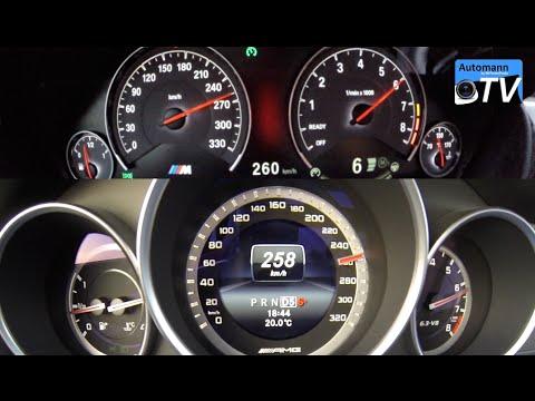 BMW M4 vs. C63 AMG Coupe - ACCELERATION & SOUND (1080p ...