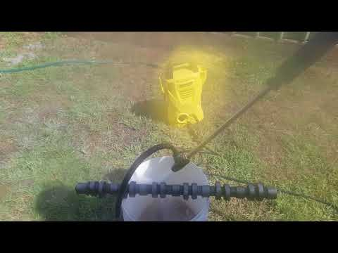 Hydro blasting a camshaft with a karcher k2 and solar power