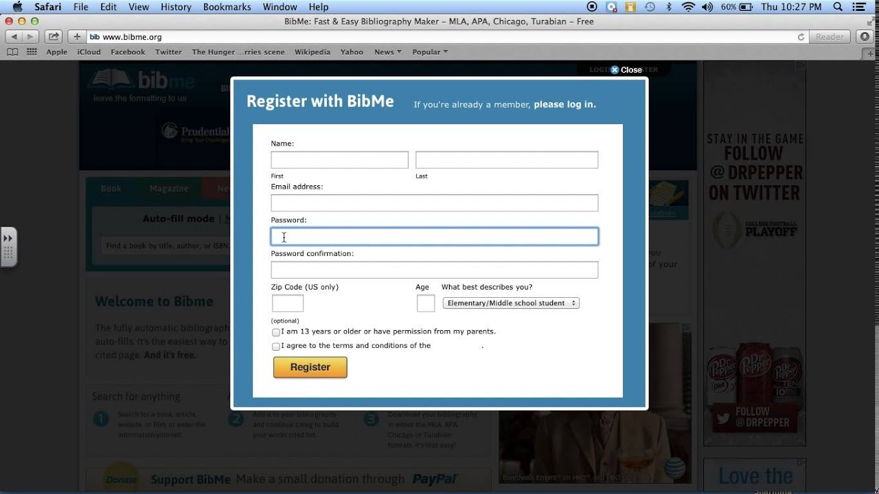 How To Register For A Bibme Account