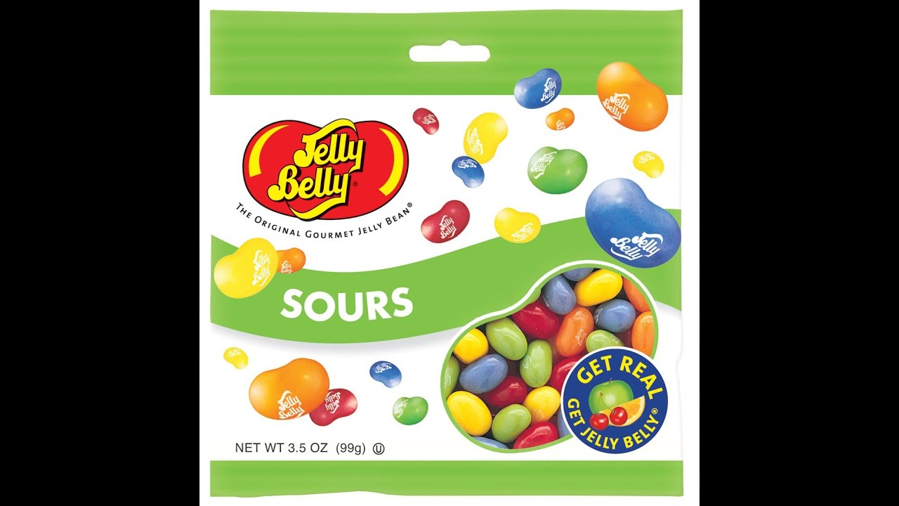 Jelly Belly Jelly Beans Sour Candy Review YouTube
