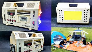 Build A v2 Camping Lamp Light Using Old Cassette Player Box