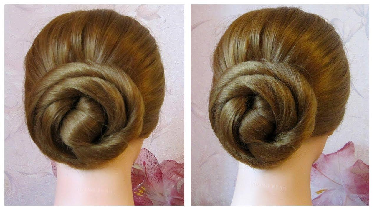 chignon facile et rapide en 2 minutes coiffure simple