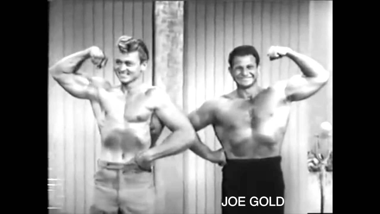 Joe Gold BODYBUILDER, FOUNDER OF GOLD'S GYM, 1950'S TV