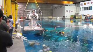 NASA Neutral Buoyancy Lab - EVA Test