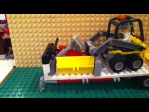 Lego Construction Trailer Moc Youtube