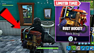 FREE RUST BUCKET back bling Fortnite