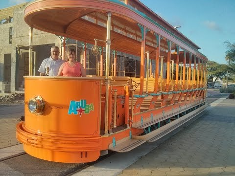 Oranjestad Aruba city trolley