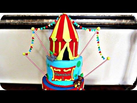 How to make a Circus Tent Cake