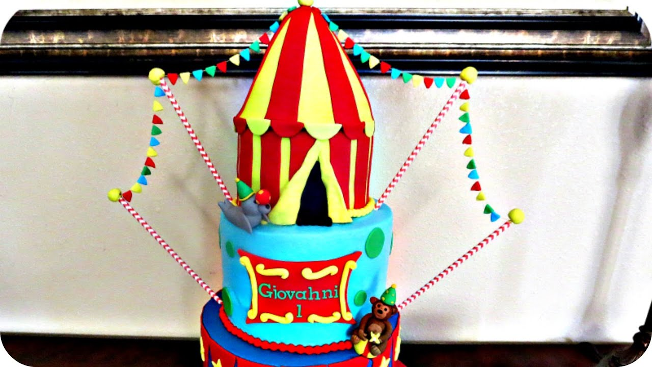sc 1 st  YouTube & How to make a Circus Tent Cake - YouTube
