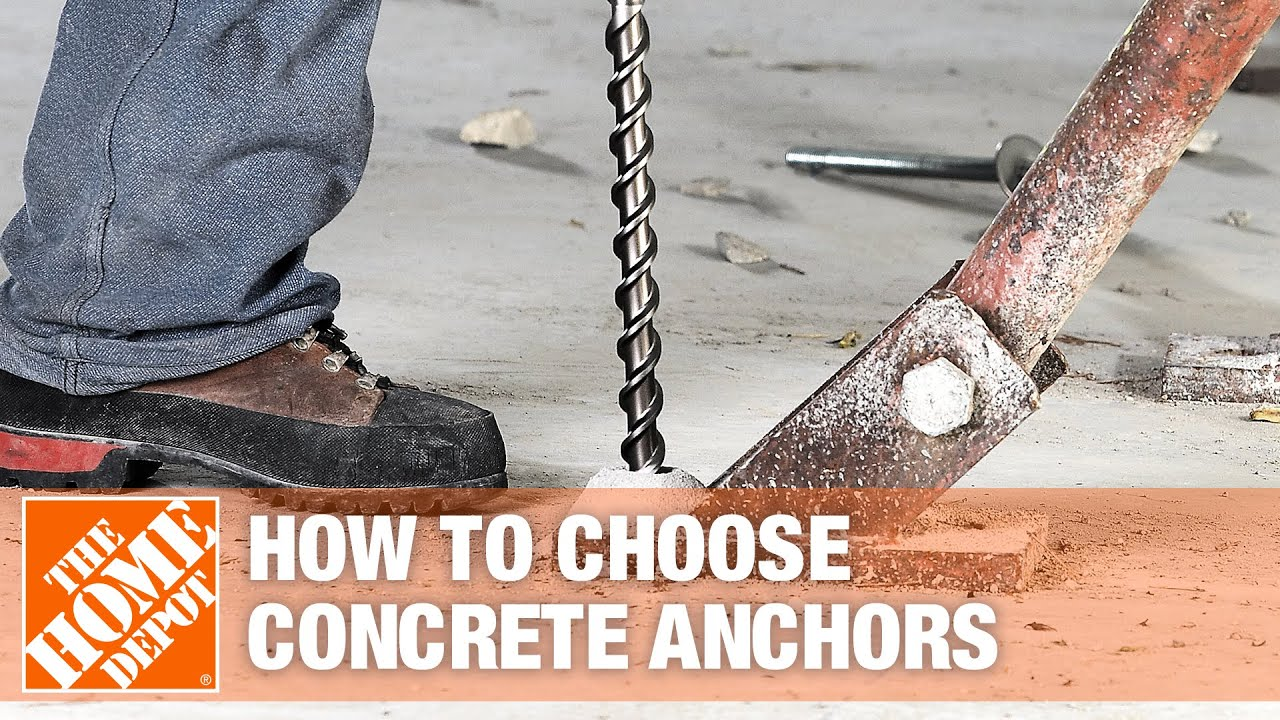 Types of Masonry and Concrete Anchors - The Home Depot