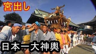 平成28年 川崎 宮前区 有馬神明社 祭礼 「宮出し」日本一大神輿渡御 。
