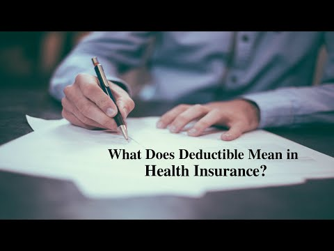 What Does Deductible Mean In Health Insurance Youtube