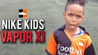 Tekkerz kid vapor xi play test | spark brilliance jnr mercurial football boots
