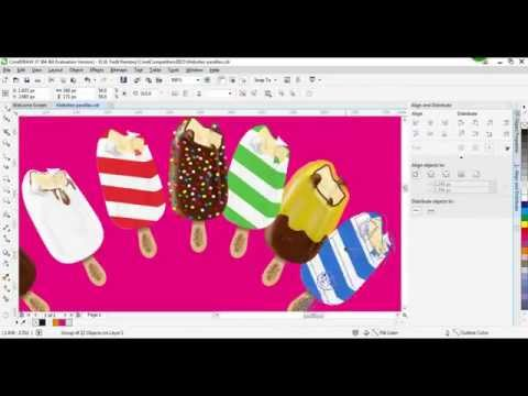 Create a Web Design with CorelDraw X7 [Speed Drawing]