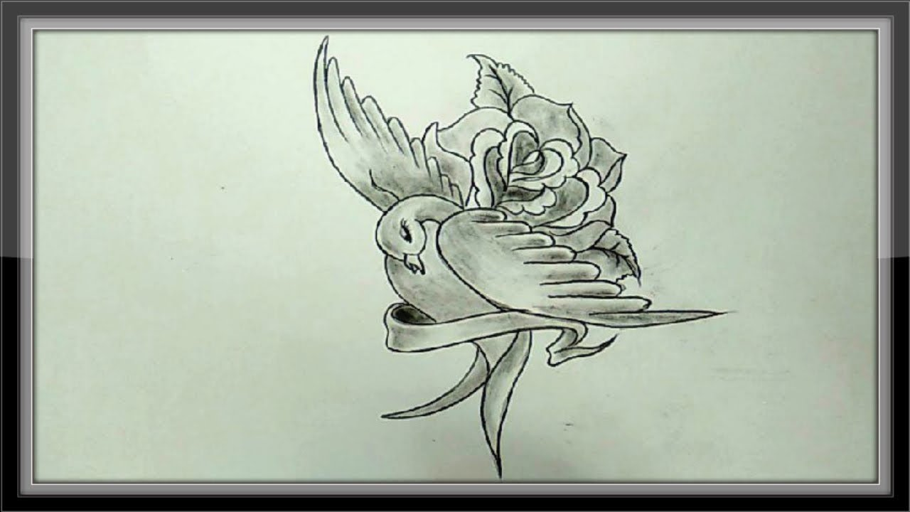 Valentine Drawing - Pencil Drawings Of Love Easy - YouTube