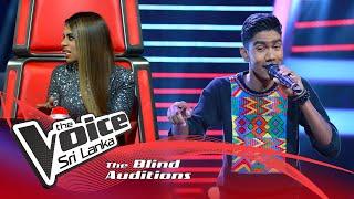 Download Ovin Bandara - Ane Gatawne (අනේ ගැටවුනේ) | Blind Auditions | The Voice Sri Lanka