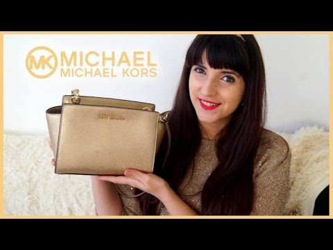 a072490bf1db MICHAEL KORS | Selma Metallic Messenger Unboxing - YouTube