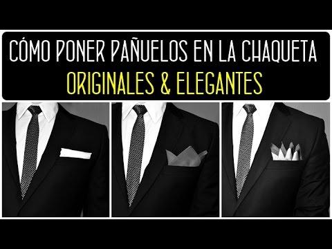 gran calidad famosa marca de diseñador mejor selección Pañuelos hombre para el bolsillo de la chaqueta. Cómo doblar pañuelo para  el bolsillo del traje.