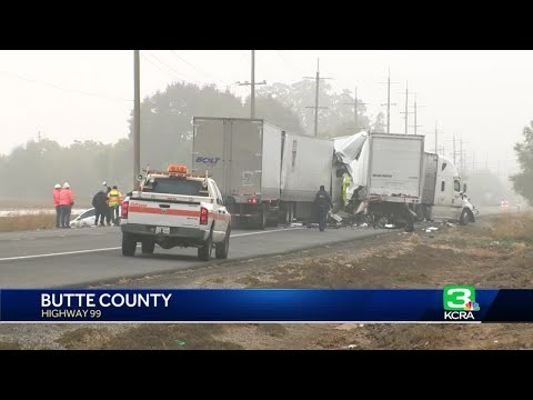 Dense fog 'definitely played a role' in fatal 10-vehicle pileup, officials say