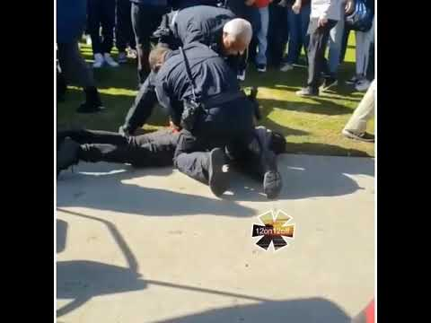 """CLOVIS EAST HIGH SCHOOL STUDENT TACKLED AND ARRESTED BY CAMPUS COPS """""""