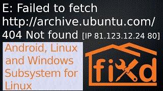 E: Failed to fetch packages error FIX in Ubuntu   404 Not fo...