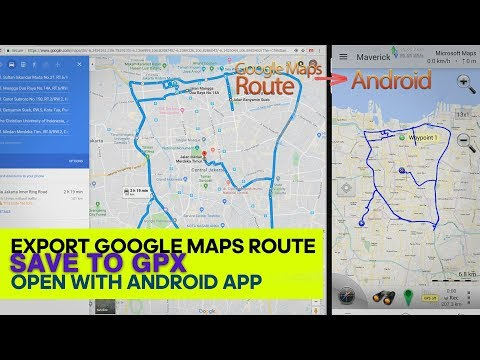 Export Google Maps route to GPX and open with Android GPS