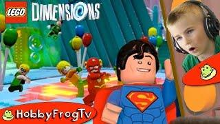 Inside SUPERMAN Fortress! Batman Movie Lego Dimensions with Robin HobbyFrogTV
