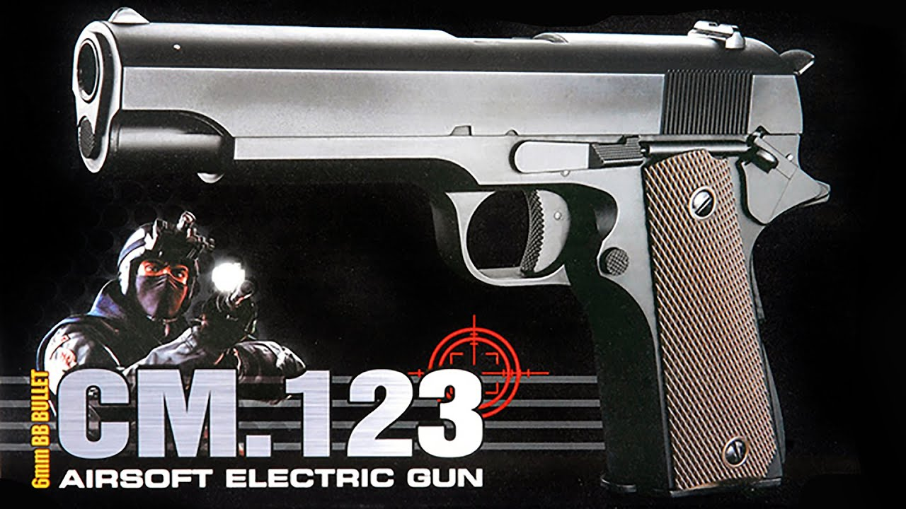 Colt 1911 Pistola Elétrica Airsoft - YouTube