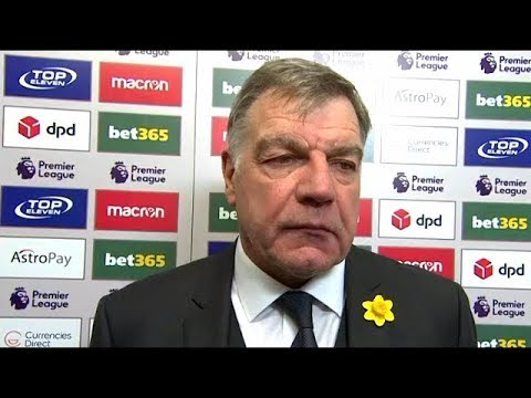 Sam Allardyce post match reaction interview | Stoke City 1-2 Everton | Cenk Tosun | Premier League