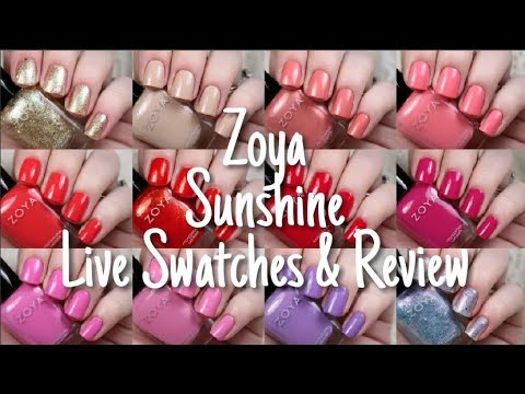 Zoya Sunshine Summer 2018 Collection | Live Swatch & Review