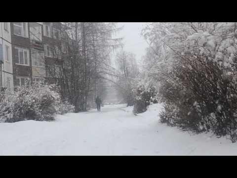 В Петрозаводске снегопад в апреле