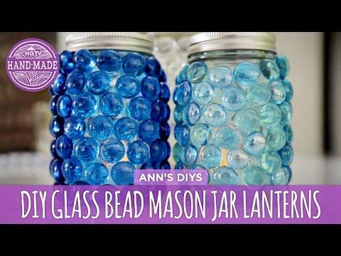 DIY Glass Bead Mason Jar Lanterns - HGTV Handmade